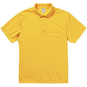 4.1oz ドライアスレチック ポロシャツ(ポケット付) 5912−01 190 カナリアイエロー