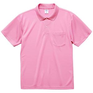 4.1oz ドライアスレチック ポロシャツ(ポケット付) 5912−01 066 ピンク
