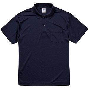 4.1oz ドライアスレチック ポロシャツ(ポケット付) 5912−01 086 ネイビー