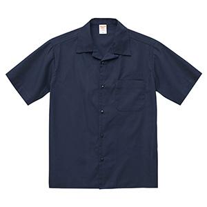 T/C オープンカラー シャツ 1759−01 717 ダークネイビー