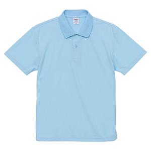 4.7oz スペシャル ドライ カノコ ポロシャツ(ローブリード)<アダルト> 2020−01 488 ライトブルー