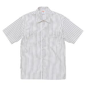 T/C ストライプ ワーク シャツ 1781−01 3402 オフホワイト/ブラック