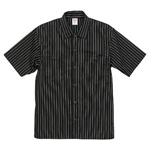 T/C ストライプ ワーク シャツ 1781−01 2001 ブラック/ホワイト
