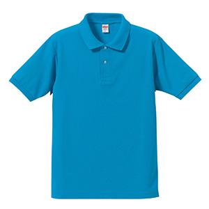 5.3oz ドライカノコ ユーティリティーポロシャツ 5050−01 538 ターコイズブルー
