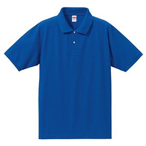 5.3oz ドライカノコ ユーティリティーポロシャツ 5050−01 085 ロイヤルブルー