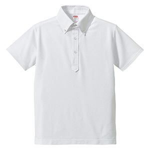 5.3oz ドライカノコ ユーティリティーポロシャツ (ボタンダウン) 5052−01 001 ホワイト
