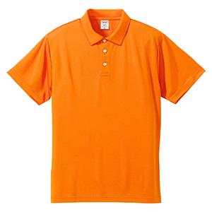 4.7oz ドライシルキータッチ ポロシャツ(ローブリード) 5090−01 064 オレンジ