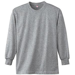 長袖Tシャツ (胸ポケット無) K4021 43 杢グレー
