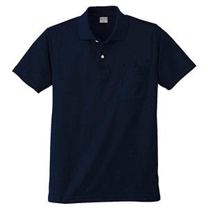 DRY 半袖ポロシャツ 9006 1 ネービー 3S〜5L