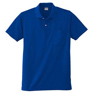 DRY 半袖ポロシャツ 9006 8 Rブルー 6L