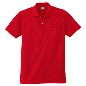 DRY 半袖ポロシャツ 9006 10 レッド 6L