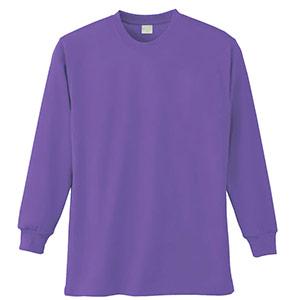長袖Tシャツ (胸ポケット無) K9009 14 淡パープル 6L