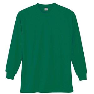 長袖Tシャツ (胸ポケット無) K9009 30 グリーン SS〜5L