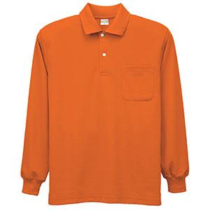 DRY 帯電防止長袖ポロシャツ 8119 12 オレンジ