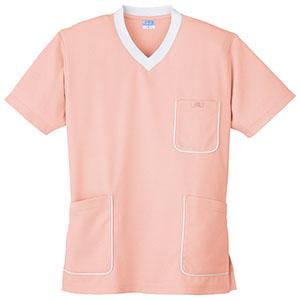 スクラブニットシャツ 390−13 ピンク