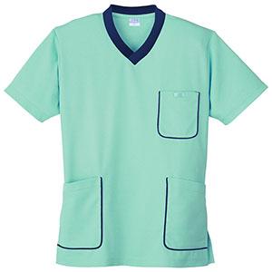 スクラブニットシャツ 390−32 ミントグリーン