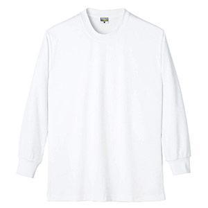 DRY 帯電防止 長袖Tシャツ 8121 90 ホワイト