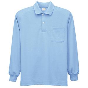 DRY 帯電防止 長袖ポロシャツ 8119 6 サックス