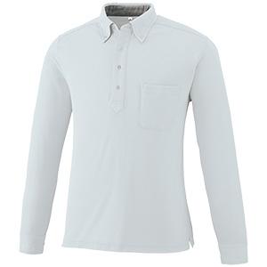 DRY ボタンダウン 長袖ポロシャツ 9030−46 ライトグレー SS〜5L