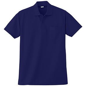 半袖ポロシャツ (胸ポケット付) K272 1 ネイビー