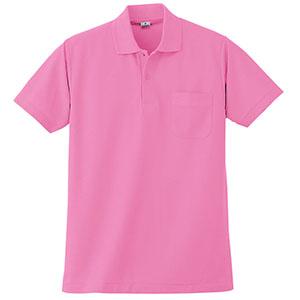 半袖ポロシャツ (胸ポケット付) K272 13 ピンク