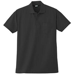 半袖ポロシャツ (胸ポケット付) K272 80 ブラック