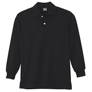 DRY 長袖ポロシャツ 9007 80 ブラック SS〜5L