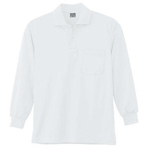 DRY 長袖ポロシャツ 9007 90 ホワイト SS〜5L