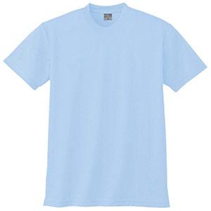 半袖Tシャツ (胸ポケット無) K9008 6 サックス 3S〜5L