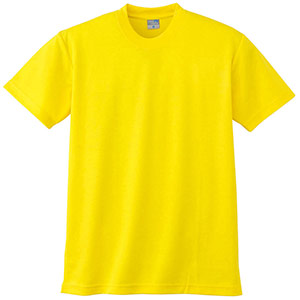 半袖Tシャツ (胸ポケット無) K9008 70 イエロー 3S〜5L