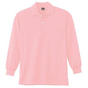 DRY 長袖ポロシャツ 9007 13 ピンク 6L