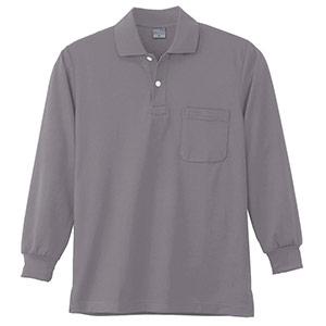 DRY 長袖ポロシャツ 9007 40 グレー 6L