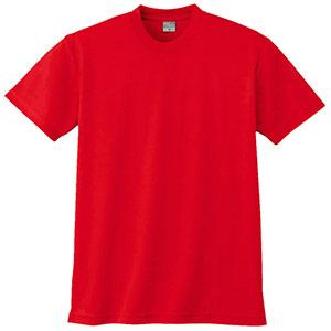 半袖Tシャツ (胸ポケット無) K9008 10 レッド 3S〜5L