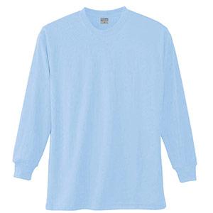 長袖Tシャツ (胸ポケット無) K9009 6 サックス SS〜5L