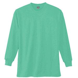 長袖Tシャツ (胸ポケット無) K9009 35 エメグリーン SS〜5L