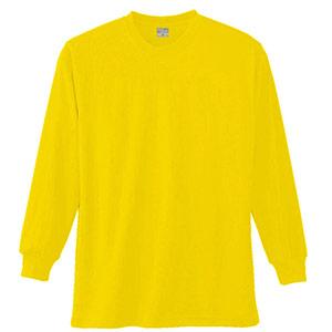 長袖Tシャツ (胸ポケット無) K9009 70 イエロー SS〜5L