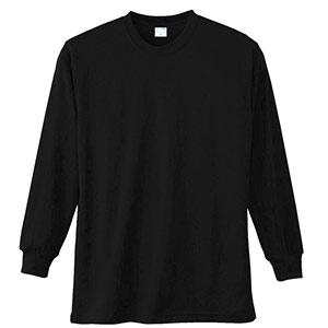 長袖Tシャツ (胸ポケット無) K9009 80 ブラック SS〜5L