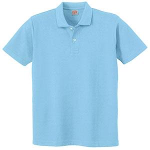 ヘビーウェイト半袖ポロシャツ (ポケットなし) 110 6 サックス