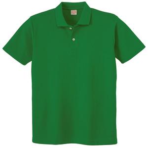 ヘビーウェイト半袖ポロシャツ (ポケットなし) 110 30 グリーン