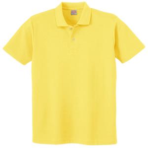 ヘビーウェイト半袖ポロシャツ (ポケットなし) 110 70 イエロー