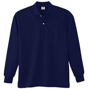 ヘビーウェイト長袖ポロシャツ (ポケット付き) 200 1 ネービー