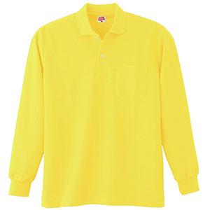 ヘビーウェイト長袖ポロシャツ (ポケット付き) 200 70 イエロー