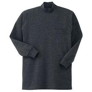 鹿の子 長袖ハイネックシャツ 003−40 グレー