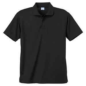 異物混入対策 DRY 半袖ポロシャツ (ネット付き) K801 80 ブラック