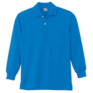 DRY 長袖ポロシャツ 9007 5 ブルー 6L