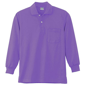 DRY 長袖ポロシャツ 9007 14 淡パープル 6L
