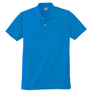 DRY 半袖ポロシャツ 9006 5 ブルー 6L
