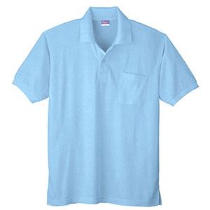 抗菌防臭 半袖ポロシャツ 590 6 サックス