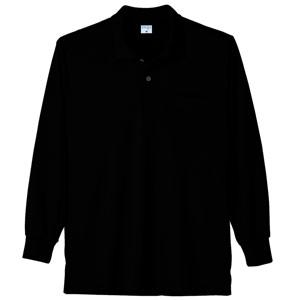 接触冷感 長袖ポロシャツ 7362 80 ブラック