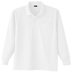 吸汗速乾 長袖ポロシャツ 6002 90 ホワイト